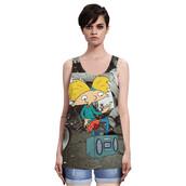 tank top,animation,radio,harajuku,punk,vest,plus size,camisole,women clothing,loose clothes,digital printing,summer vest,new fashion