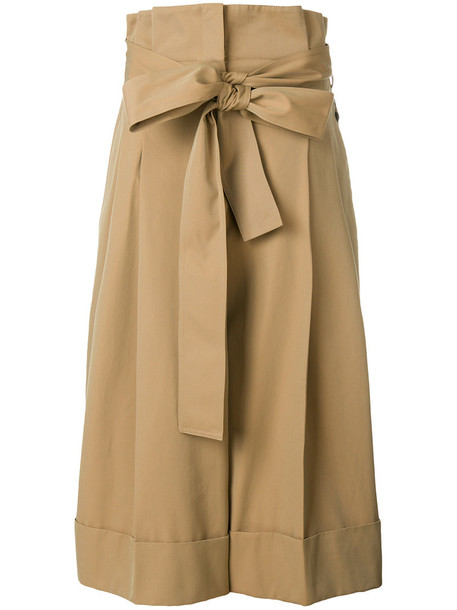 high waisted cropped high women nude cotton pants