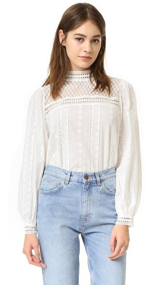 top lace top long lace white