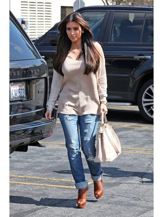 shoes kim kardashian boots brown lambskin leather peep toe over-stitched detail red bottom platform shoes stilettos 140 mm high covered heel ankle bootie boots