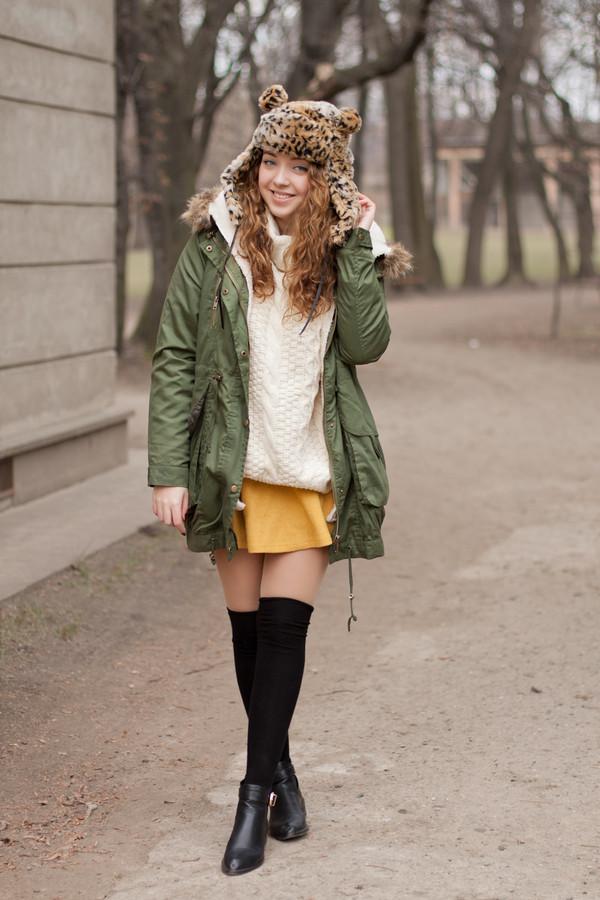 kolorowa dusza jacket skirt hat shoes