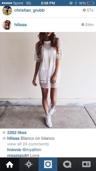 white dress mesh sportswear jersey modern dress