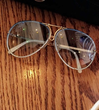 sunglasses retro blue porsche rimless sunglasses