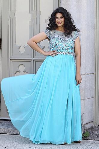 bright blue dress plus size dress prom dress plus size prom dress blue prom dress long prom dress