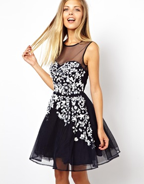 ASOS | ASOS Embellished Floral Dress at ASOS