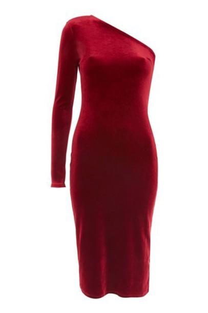 Topshop dress midi dress midi red