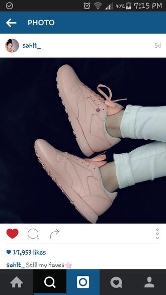 shoes pastel pink reebok sneakers pastel sneakers instagram