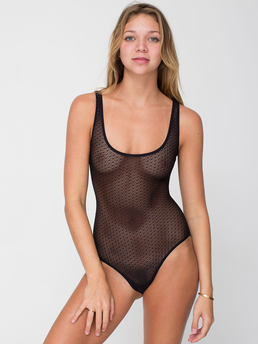 Geo Lace Bodysuit | American Apparel