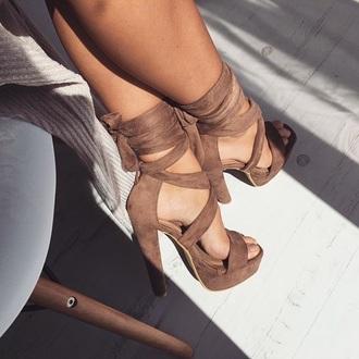 shoes brown tan heels summer