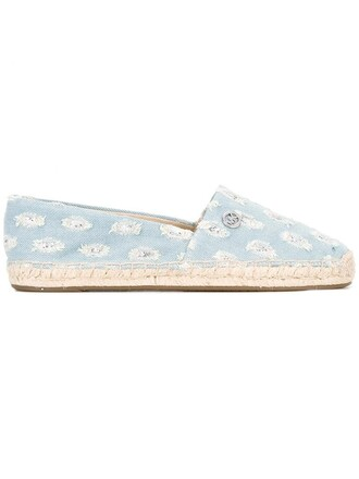 denim women espadrilles cotton blue suede shoes