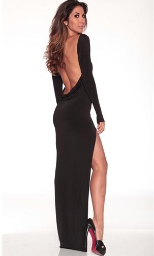 Long classic backless dress