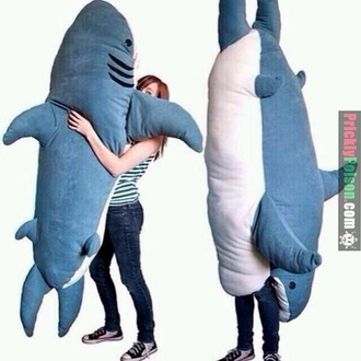 dress pants camping blue shark teddy teddy bear cute tumblr tumblr girl cool shark slepping bag hat sleeping bag sweater whale stuffed animal funny pajamas bag sleep top plush cuddle buddy home accessory giant huge big pillow ocean giant teddy bear