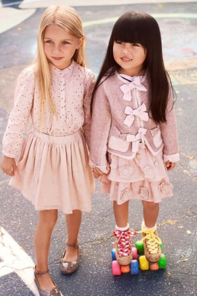 skirt pastel dress blouse kids fashion cute dress pink dress