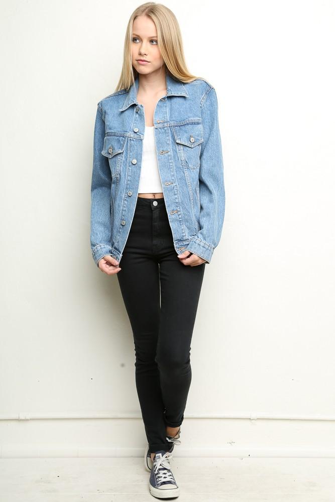 Popolare ♥ Melville   Amara Boyfriend Fit Denim Jacket - Clothing NH63