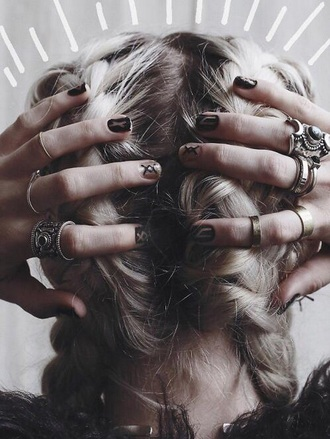 jewels silver ring gold ring boho jewelry grunge jewelry nail accessories