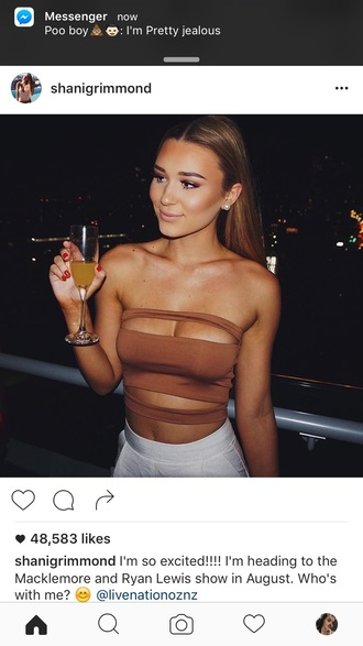 shirt strappy top strappy top boob tube crop tops brown
