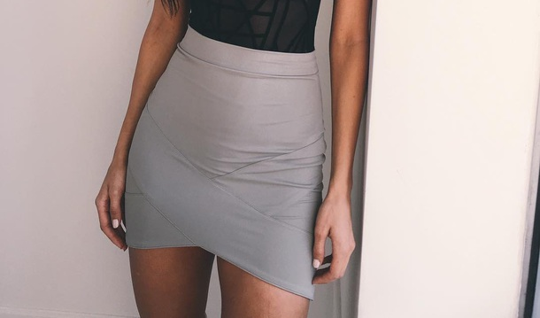 skirt grey mini skirt