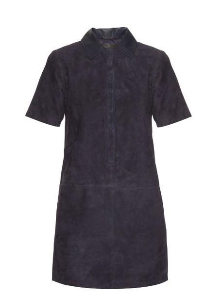 RAG & BONE Alix suede dress in navy