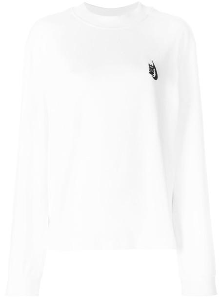Nike top women white cotton
