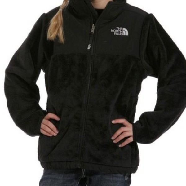 north-face-fleece-girls-black