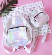 bag,girly,girly wishlist,holographic,holographic bag,mini,mini bag