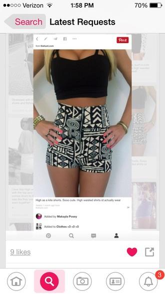 shorts crop tops high waisted shorts