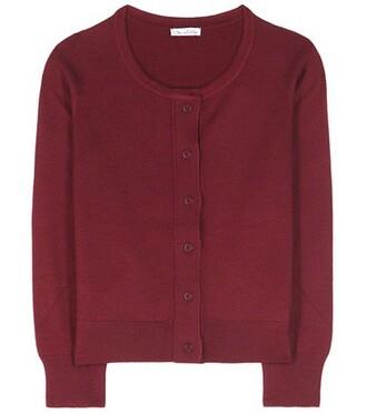 cardigan silk red sweater