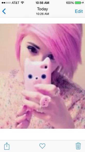 phone case iphone cat case cat case cats phone case iphone case pink cat case pink cat leda leda muir ledamonsterbunny