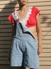 shorts,bib overall shorts,denim overalls,denim overall shorts,crops tops with overalls