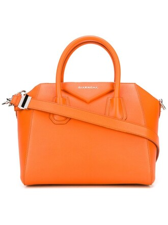 yellow orange bag