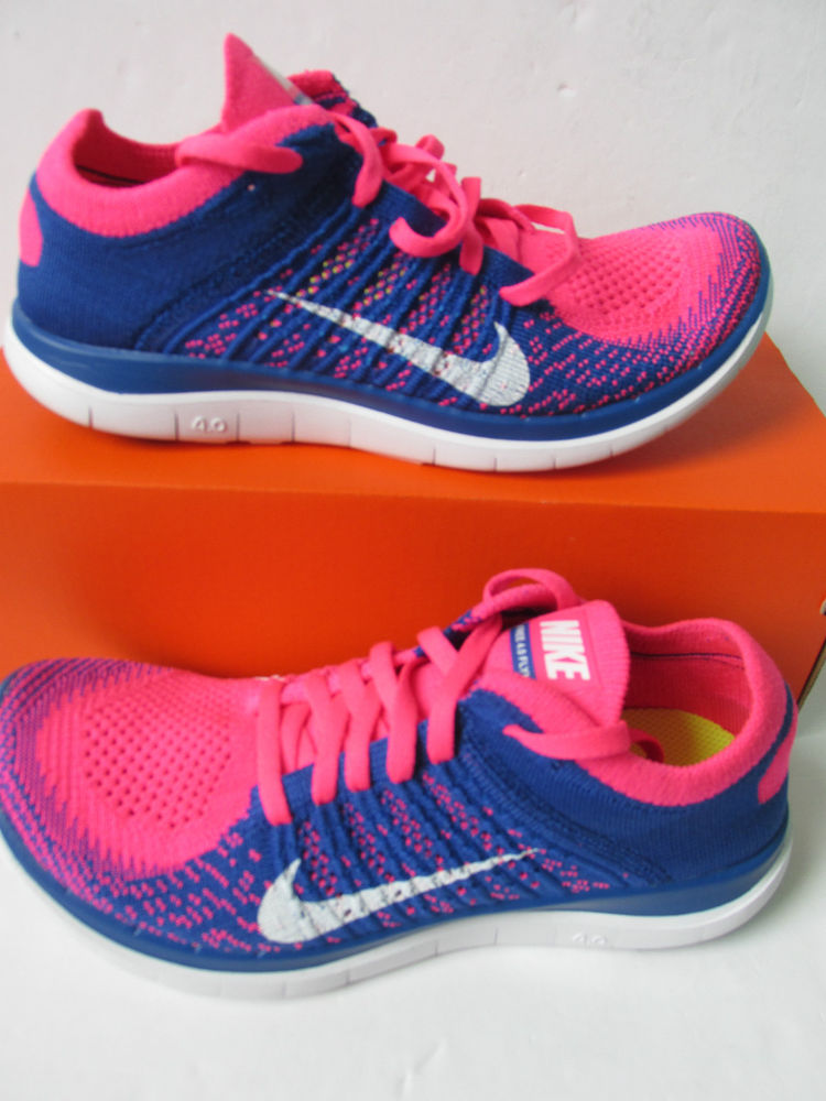 more photos a1ec9 8a44a nike womens free 4.0 flyknit running trainers 631050 600 sneakers shoes