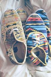 shoes,aztec,aztec shoes,vans,sneakers,urban sneakers,boho,cute,summer,spring,girl