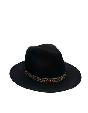 ASOS | ASOS Aztec Band Felt Fedora Hat at ASOS