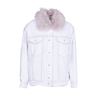 jacket shearling jacket denim