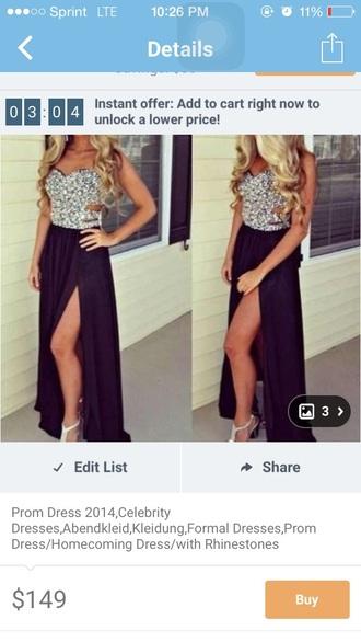 bag black dress prom dress