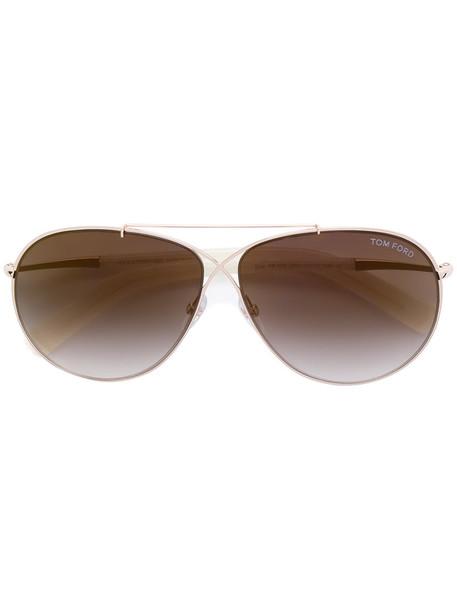 Tom Ford Eyewear - Eva sunglasses - women - Acetate/Metal (Other) - 61, White, Acetate/Metal (Other)