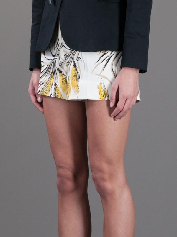 shorts wheat print shorts printed shorts wheat tory burch