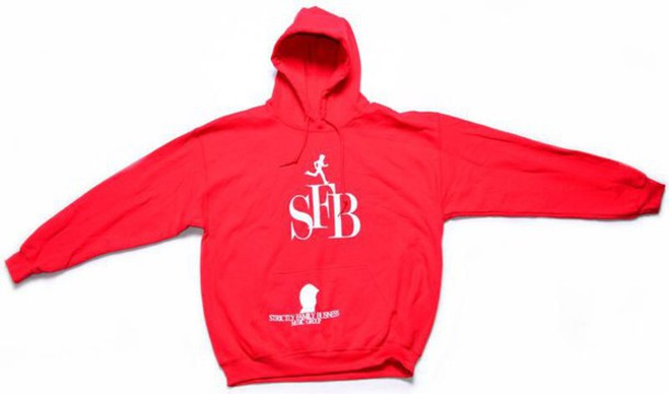 sweater sfb red sweater