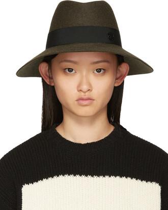 fedora green hat
