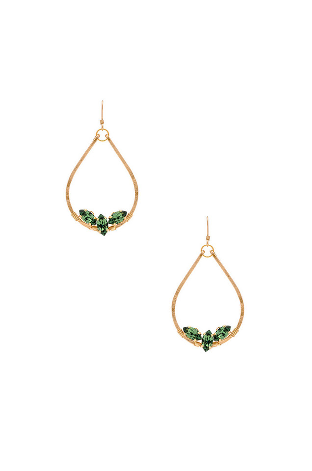 Mimi & Lu Esther Tear Earrings in gold / metallic