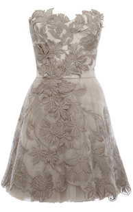 Nwt Beige Karen Millen Limited Edition Romantic Embroidery Dress  - Dresses