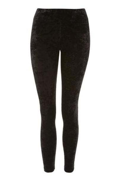 Topshop leggings black velvet pants