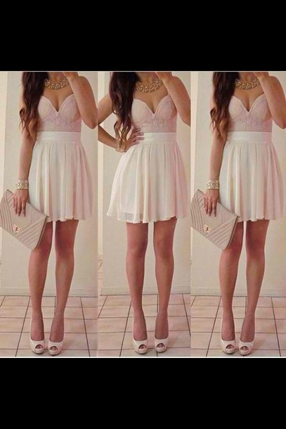 dress white skirt pink top