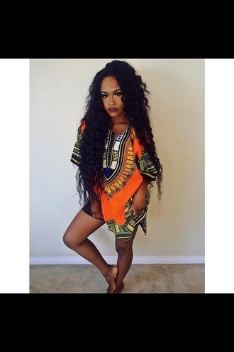 t-shirt dress african print dope black girls killin it dashiki jersey jersey dress tribal pattern bad bitches link up baddies style shirt dress