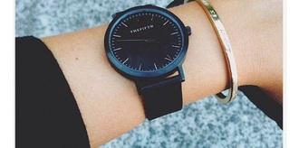 jewels black sleek watch cheap watch black