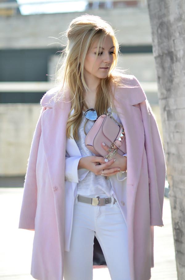 oh my vogue coat jacket jeans belt shoes jewels bag nail polish