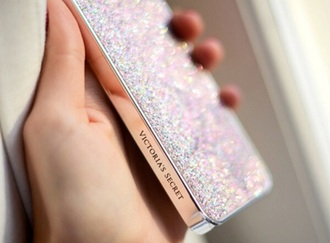 phone cover silver sparkles victoria's secret
