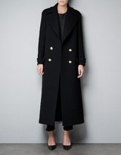 coat,black,military style,long sleeves,long