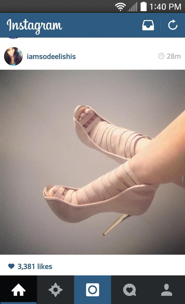 shoes high heels tan high heels