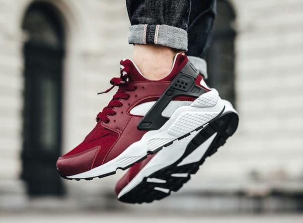 shoes nike huarache red sneakers